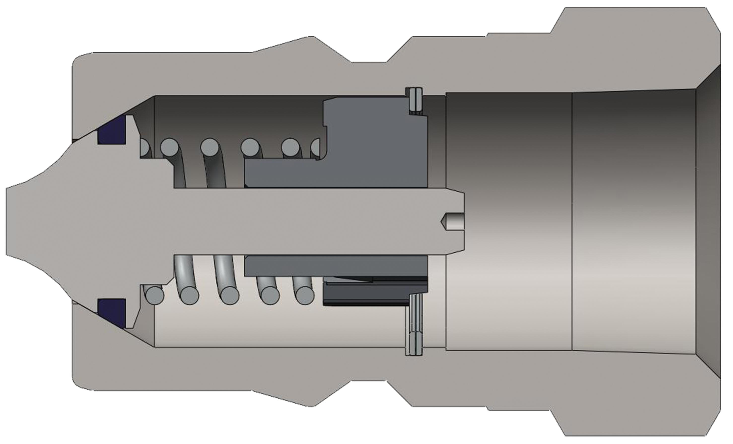 DQC H-Series ISO-B Female Plug-H8F8-SS